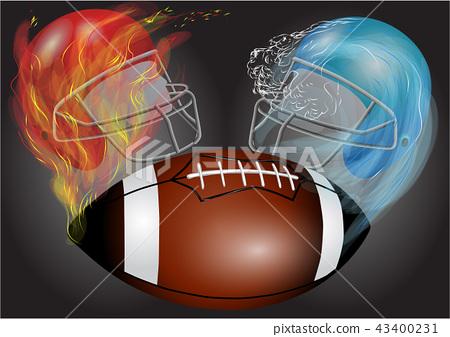 American football, helmets and ball 43400231