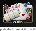 Casino Games of Fortune Conceptual Banner 3d Illustration of Casino Games Elements. 43400639
