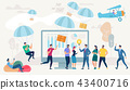Social Network and Teamwork Vector Concept. 43400716