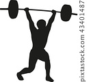 lifting weightlifting barbell 43401487