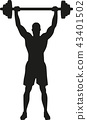 Weight Lifting bodybuilder silhouette 43401502