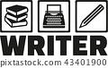 typewriter, writer, author 43401900