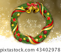 Christmas wreath 43402978