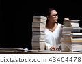 Girl shirt reading many textbooks many books night 43404478