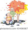 노부부, 가을, 단풍 43406087