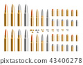 Bullet 3D virtual design set, illustration 43406278