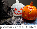 Pumpkin bucket and witch hat, Halloween decoration 43406671