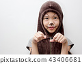 Portrait of cute girl in Halloween costume 43406681