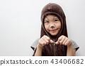 Portrait of cute girl in Halloween costume 43406682