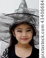 Portrait of cute girl in Halloween costume 43406684