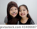 Portrait of cute girl in Halloween costume 43406687