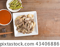 beef, chopsticks, cooked 43406886