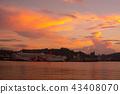 서 오이타 항 페리와 저녁놀 43408070