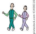 senior walking walk 43408316