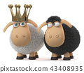 3d, illustration, sheep 43408935