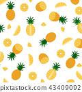 Vector illustration of pineapple pattern  43409092