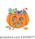 Pumpkin Halloween. Vector illustration 43409977