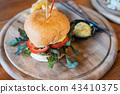 Homemade Hamburger with pork and cheese 43410375