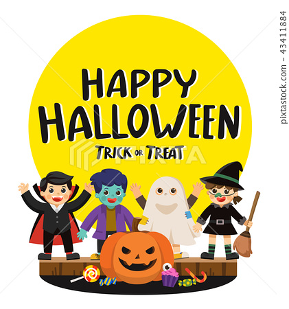 Children in Halloween and Trick or Treat Party. 43411884