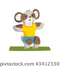 animal, koala, cartoon 43412330