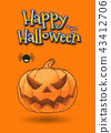 Jack pumpkin and spider halloween illustration 43412706