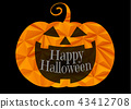 Halloween Jack pumpkin smile illustration 43412708