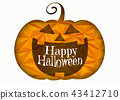 Halloween Jack pumpkin smile illustration 43412710