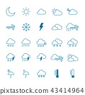 Weather icon set. isolated Vector illustration 43414964