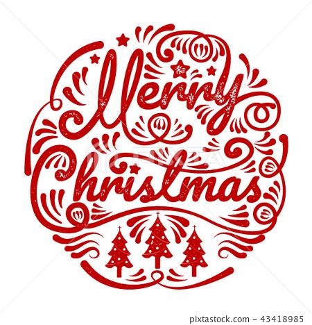 merry christmas happy new year calligraphy stock illustration 43418985 pixta https www pixtastock com illustration 43418985