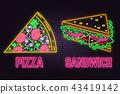 sandwich, neon, logo 43419142