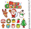 icon, icons, christmas 43422417