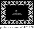 Frame with decorative elements of traditional Thai ornament.  43423278