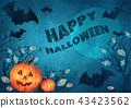bat moon halloween 43423562