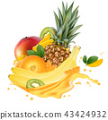 juice, pineapple, orange 43424932