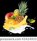 pineapple, orange, banana 43424933
