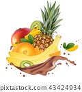 chocolate, pineapple, orange 43424934