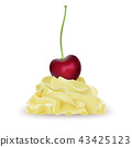 Vanilla banana lemon whipped cream for ice cream  43425123