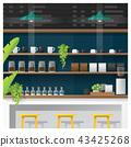 Interior scene of modern coffee shop counter bar 43425268