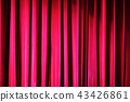 Red stage curtain 43426861