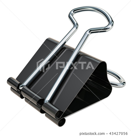 Binder clip, 3D rendering 43427056