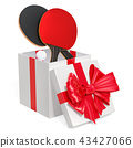 Gift concept, table tennis inside gift box 43427066