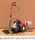 Modern vacuum cleaner in interior, 3D rendering 43427076