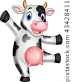 Cartoon happy cow 43428411