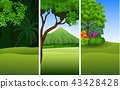 Set of three beautiful natural landscape backgroun 43428428