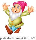Cartoon happy dwarf 43430121