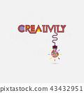 Creative colorful light bulb idea abstract vector 43432951