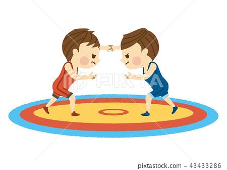 男子摔跤 43433286