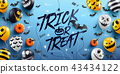 """""""Trick or Treat"""" Halloween Background  43434122"""