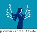 Businesswoman and multitasking.  43435462