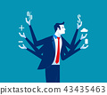 Businessman and multitasking. 43435463